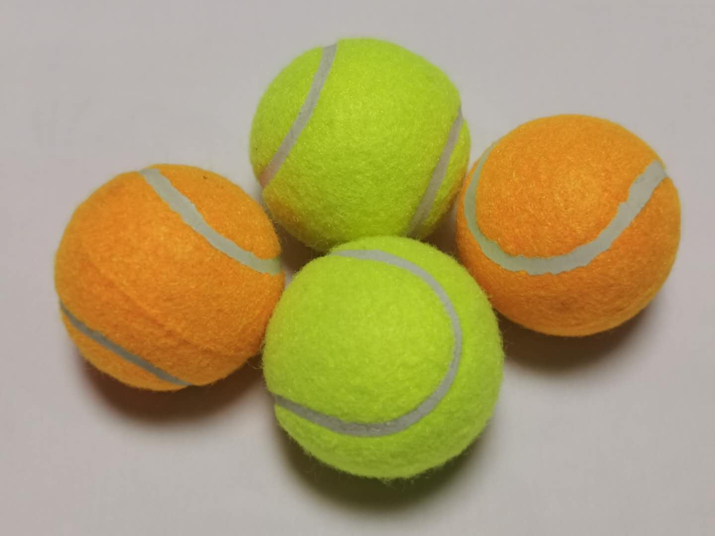 Customized Pet Tennis Ball with Natural Rubber Material