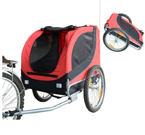 Foldable Pet Bike Trailer Bicycle Stroller Jogger
