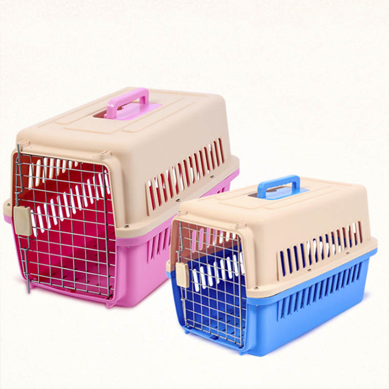 Economical custom snap button airline approved size L large dog pet carrier cage