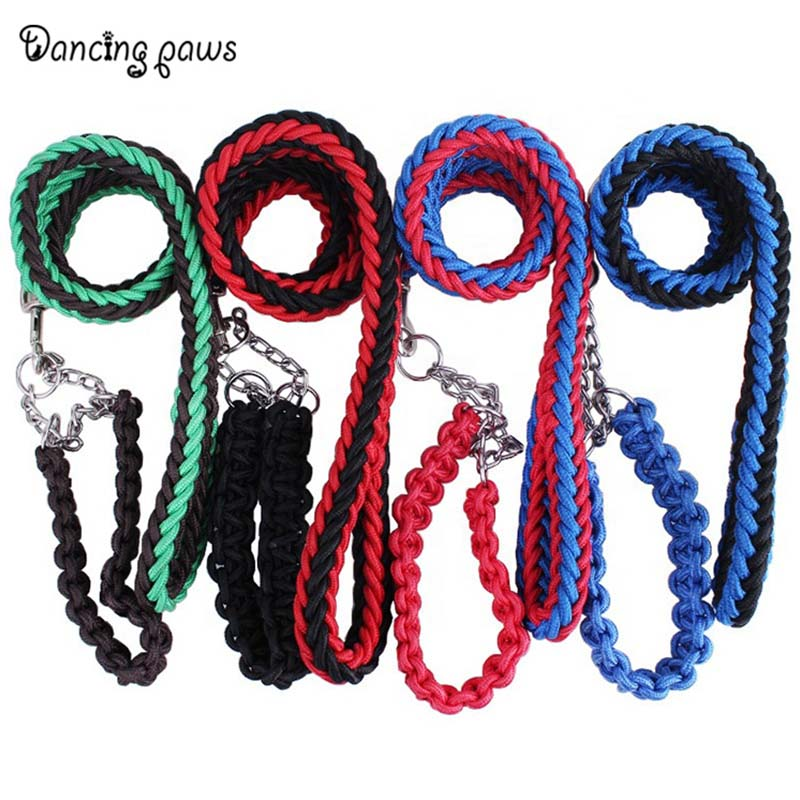 Factory price handmade large dog nylon leashes and collars set size S