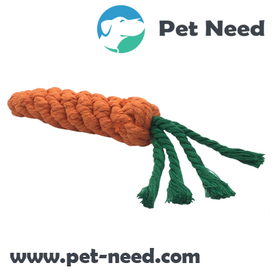 Carrot Shaped Dog Rope Toy
