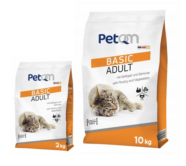 PetQM Basic Adult Cat Food with Poultry and Vegetables