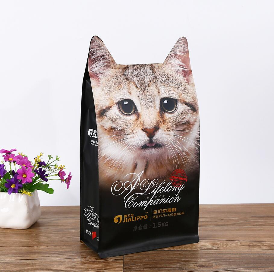 Stand Up Shape Pouch for Cat Food Plastic Cat Food Packaging Bag
