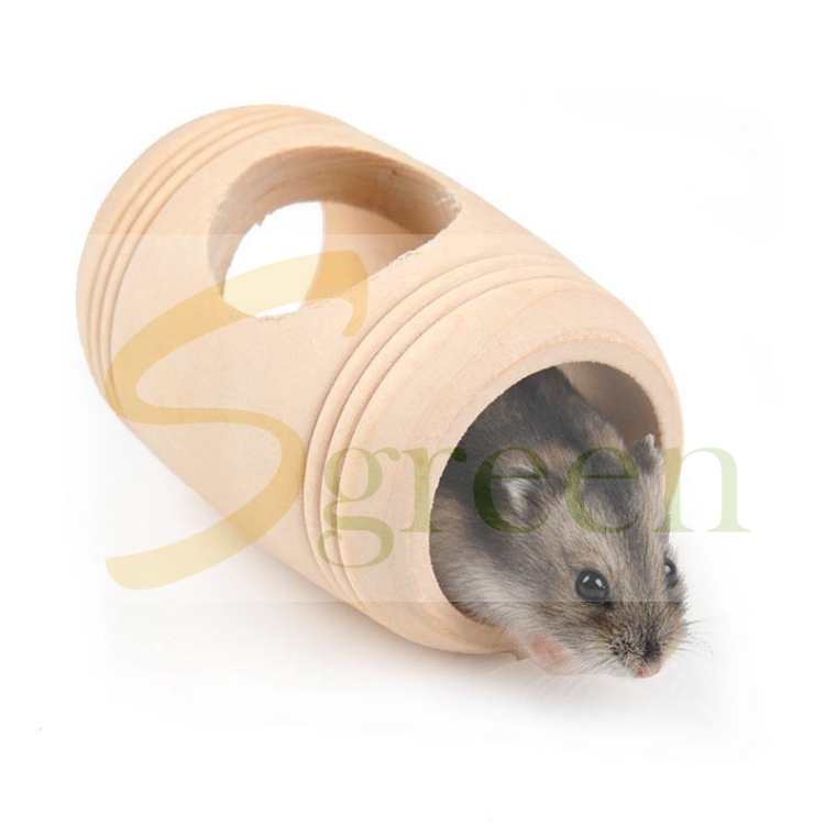 Small Animal Hamster Mice Wooden Bed House Pet Rat Hamster Wood Toy Chew toy